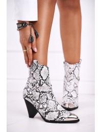 Aukštos kokybės madingi batai su stilinga metaline nosele - L1287 SNAKE