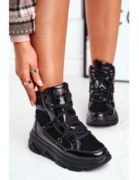 Juodi stilingi patogūs ir šilti batai Black Missy - W20-1005 BLK