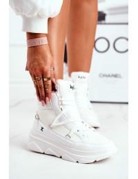 Juodi stilingi patogūs ir šilti batai White Missy - W20-1005 WHITE