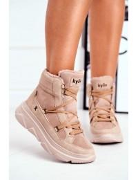Juodi stilingi patogūs ir šilti batai Beige Missy - W20-1005 BEIGE