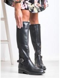 Juodos spalvos stilingi ilgaauliai su pašiltinimu - H9213NE