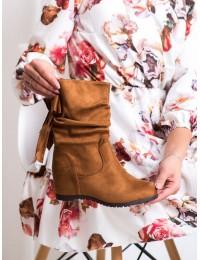 Stilingi rudos spalvos batai su patogia platforma - H8120C