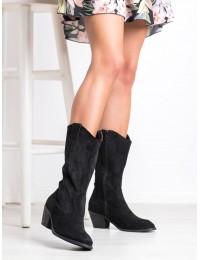 Zomšiniai aukštos kokybės kaubojiško stiliaus madingi batai - H9251NE