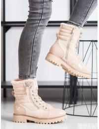 Šilti aukštos kokybės patogūs smėlio spalvos batai - L2005BE