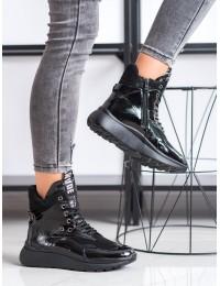 Stilingi juodi aukštos kokybės šilti batai aktyviai dienai ar laisvalaikiui - Y9412B