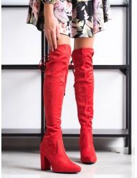 Ryškios raudonos spalvos elegantiški ilgaauliai - 750-06R
