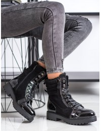 Šilti stilingi juodos spalvos aulinukai - L2005B