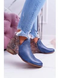 Originalaus dizaino mėlyni batai - 04091-27 NAVY