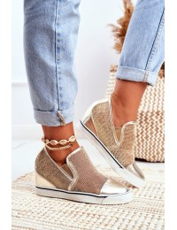 Women s Wedge Sneakers Lu Boo Gold Morgono - XW36233 GOLD PU