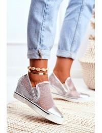 Women s Wedge Sneakers Lu Boo Silver Morgono - XW36233 SILVER PU