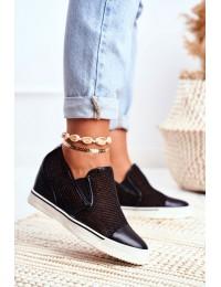 Women s Wedge Sneakers Lu Boo Black Morgono - XW36233 BLK PU
