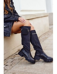 Women's High Boots with Purse Black Remy - RB100 BLK