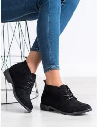 Klasikinio stiliaus zomšiniai suvarstomi batai su pašiltinimu - F4024B