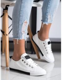 Balti stilingi bateliai kasdienai - 1016B