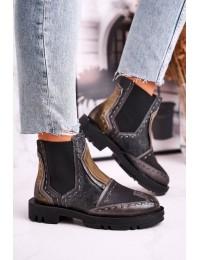 Originalaus dizaino bohemiško stiliaus aukštos kokybės batai - 04634-03 GREY