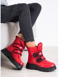 Raudonos spalvos šilti žieminiai batai - BY-2001R