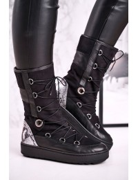 Aukštos kokybės natūralios odos zomšos batai Laura Messi 2054 - 2054 BLK