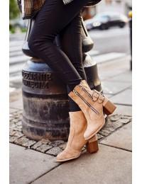 Stilingi smėlio spalvos batai Beige Anabelle - A5710-63 BEIGE