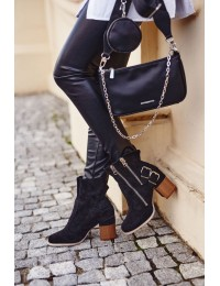 Stilingi juodos spalvos batai Black Anabelle - A5710 BLK