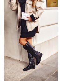 Stilingi prabangaus stiliaus ilgaauliai Black Karla - NC1093 BLK