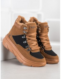 Šilti patogūs juodi batai aktyviai dienai ar laisvalaikiui - W20-1004C