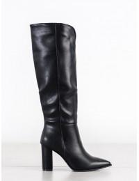 Elegantiški juodos aukštos kokybės odos ilgaauliai - RB88B