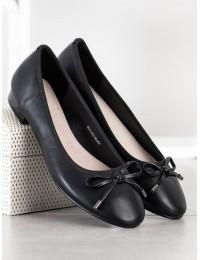 Elegantiški juodos spalvos bateliai - GD-FL802A-B