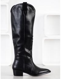 Aukštos kokybės odos juodi ilgaauliai\n - RB96B
