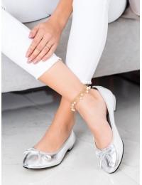 Elegantiški patogūs sidabro spalvos bateliai - GD-FL801S