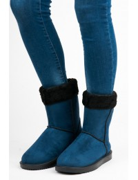 Mėlynos spalvos UGG stiliaus patogūs zomšiniai batai - SMM04BL