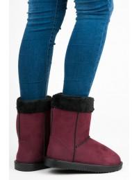 Bordo spalvos UGG stiliaus patogūs zomšiniai batai - SMM04CL