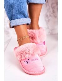 Jaukios patogios namų šlepetės Bright Pink Teddy - CJ-7 BRIGHT PINK