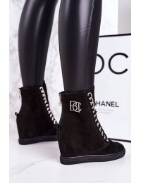 Prabangaus stiliaus natūralios odos madingi juodi batai  - 2222/066/s BLK SILVER