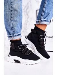 Madingi juodi laisvalaikio stiliaus batai - PC06 BLACK