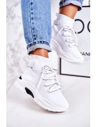 Madingi balti laisvalaikio stiliaus batai\n - PC06 WHITE