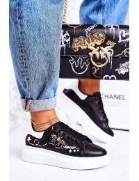 Aukštos kokybės juodi stilingi bateliai Black Amour - VIVI039 BLACK