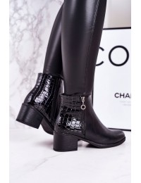 Elegantiški klasikinio stiliaus juodi aulinukai - A8215 BLACK