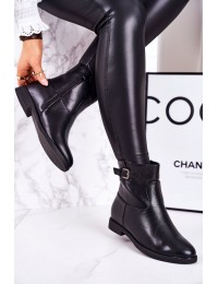 Juodi elegantiški klasikinio stiliaus batai su pašiltinimu - A8300 BLK
