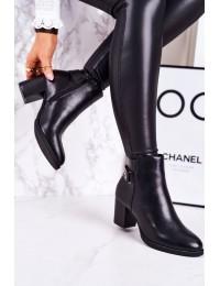 Juodi elegantiški klasikinio stiliaus batai su pašiltinimu - 20Y8133-1P BLACK