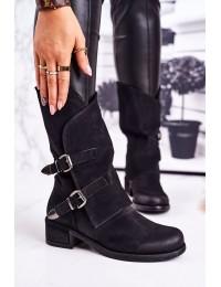 Juodos spalvos stilingi batai su sagtimis - ST33P BLK
