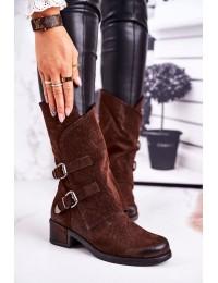 Rudos spalvos stilingi batai su sagtimis - ST33P BROWN