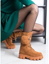 Madingi aukštos kokybės zomšiniai batai su platforma - NC1111C