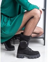 Madingi aukštos kokybės zomšiniai batai su platforma - NC1111B