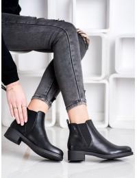 Juodi odiniai klasikinio stiliaus batai - 9361B