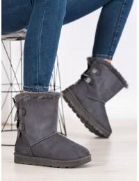Šilti patogūs UGG stiliaus batai su kaspinėliais - X13G