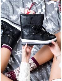 Juodos spalvos šilti batai patogūs batai su platforma - DS8827B