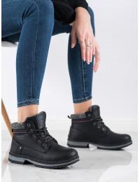 Juodos spalvos šilti patogūs batai su avikailiu - BM8377B