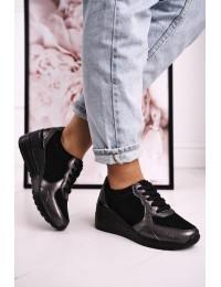 Natūralios odos aukštos kokybės patogūs stilingi batai - LR94499 BLACK