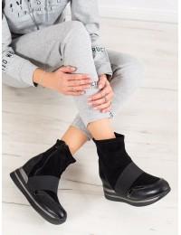 Stilingi juodi aukštos kokybės batai su pašiltinimu - H0207B
