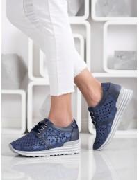 Stilingi mėlynos spalvos batai su patogia platforma - A119-02-01N